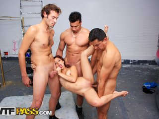 Ability to satisfy three dicks in group orgy