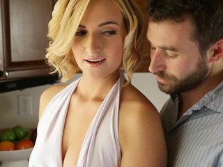 Short haired blonde Kate England gives a lusty..