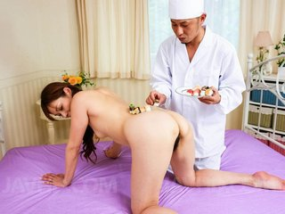 Hitomi Kanou Asian has mouth and hairy love box..