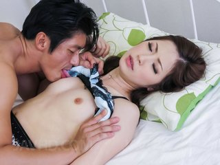 Rina Koda Asian gets finger and hard dong from..