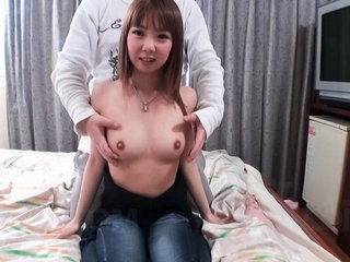 Akane Okuno Asian has very hairy cunt fucked..