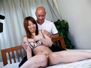 Ai Ootomo Asian gets dildo in asshole and..