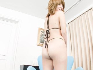 Rika Aina Asian busty sucks shlong and gets..