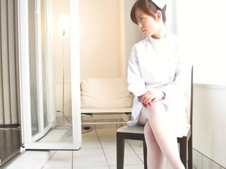 Japanese nurse Miina Minamoto alone and toying..