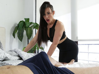 Horny mom Jennifer White helps her stepson get..